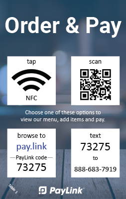 contactless payments and contactless ordering