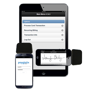 paygistix mobile accept credit cards with tablet or mobile device
